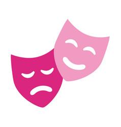 Comedy drama masks theater symbol vector