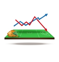 Concept of statistics about the game lacrosse vector