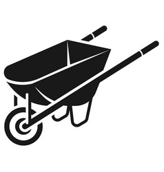 Construction wheelbarrow icon simple style vector