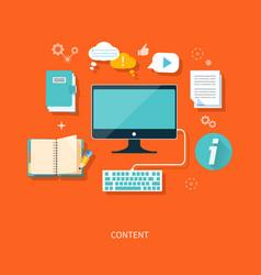 Content concept vector