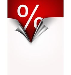 Coupon banner with torn edge vector