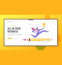 creative idea innovation leadership challenge vector image