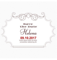 Elegant white card for inviting to an important vector