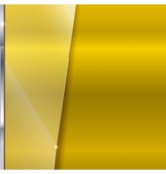 Elegant yellow background with glass banner vector
