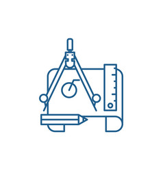 Engineering project line icon concept engineering vector
