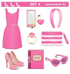 Female Accessories Set 4 vector