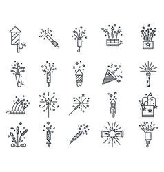 fireworks or set isolated salute splash vector image
