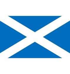 Flag of Scotland in correct proportions and colors vector image