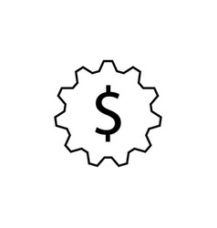 gear dollar icon element of finance signs and vector image