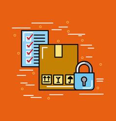 global logistic checklist cartoon vector image