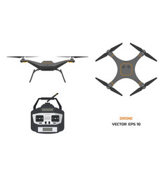 Grey drone on a white background vector