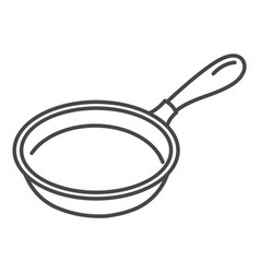 Griddle icon outline style vector