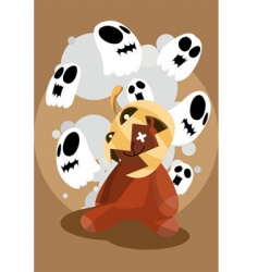 Halloween poster vector image