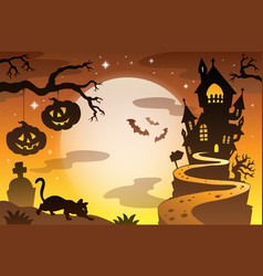 Halloween topic background 4 vector