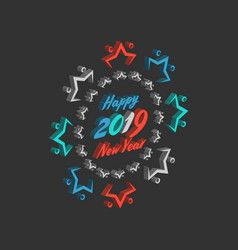 Happy new year sale vintage sign vector