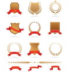 Heraldic wreaths vector