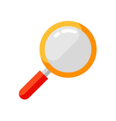 Icon magnifying glass in flat style vector
