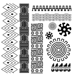 Image ancient american pattern on white vector