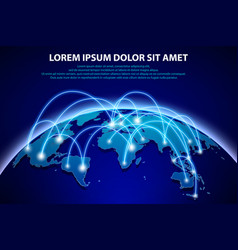 Internet and global connection background vector