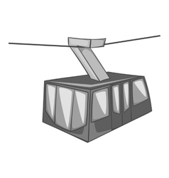 Istanbul tram icon gray monochrome style vector