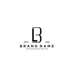 Letter bl logo design vector