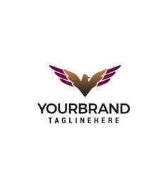 luxury eagle logo design concept template vector image