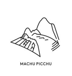 Machu picchu peru vector
