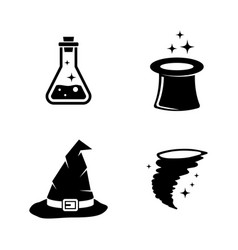 magic simple related icons vector image