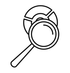 Magnifier pie chart icon outline style vector