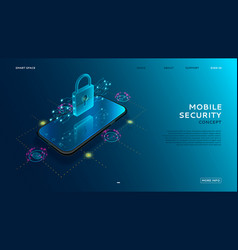 Mobile security modern concept vector