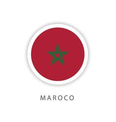 Morocco circle flag template design vector