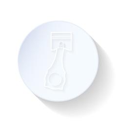 Motor piston thin lines icon vector image