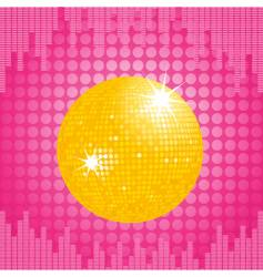 orange disco ball and equalizer vector image