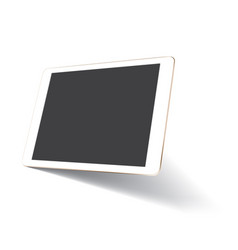 perspective tablet mockup vector image