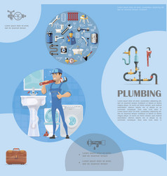 plumbing colorful template vector image