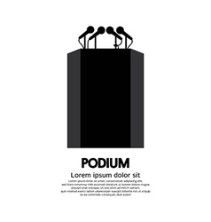 Podium vector image