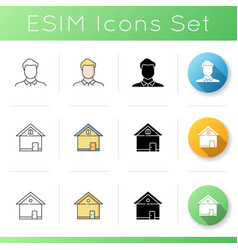 private property icons set vector image