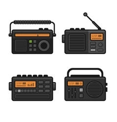 Radio Icon Set vector