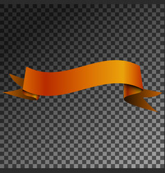 realistic shiny brown ribbon banner isolated vector image