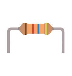 Resistor small flat parts components electronic vector
