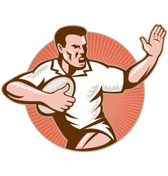 retro rugby icon vector image