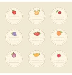 Set fruit stickers vector