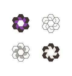 set of geometric monogram minimasm for vector image