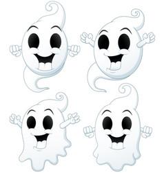 set of halloween ghost cartoon vector image