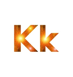 Set of letters firework K vector image