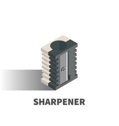 sharpener icon symbol vector image