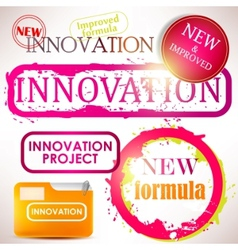 tags and stamps innovation vector image