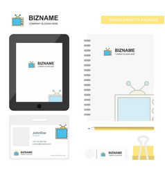 television business logo tab app diary pvc vector image