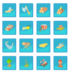 Timber industry icon blue app vector