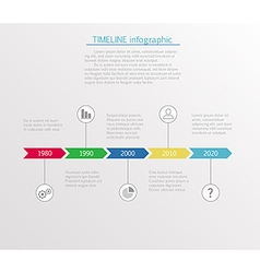 Timeline infographic business template vector image